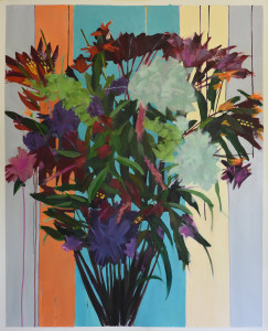 Deconstructed-Flower-bunch-11-oil-on-paper-42-x-32