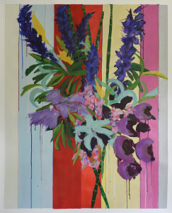 Deconstructed-Flower-bunch-12-oil-on-paper-42-x-32