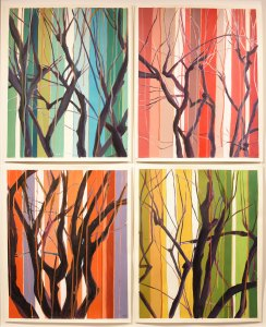Fall-West-Massachusetts-Quadtych -acrylic-on-paper-each-42-x-34