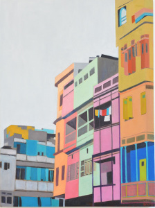 Street-view-Udaipur-oil-on-canvas-18x24-2012